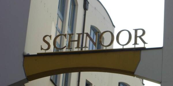Formbauteil mit Buchstaben für den Schnoor in Bremen