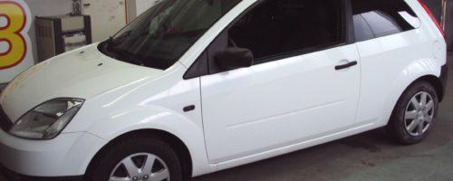 Fahrzeug vor der Vollverklebung- Grünewald-Werbung