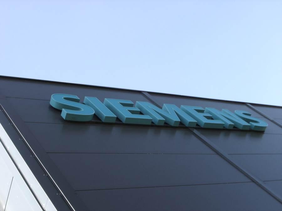 3D Buchstaben für Siemens von Grünewald-Werbung