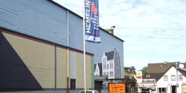 Werbefahne in Bremen Hemelingen