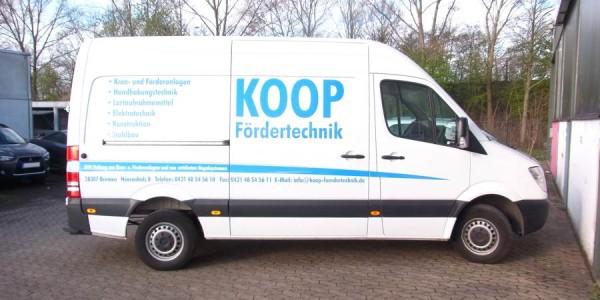 Fahrzeugbeschriftung für KOOP Fördertechnik