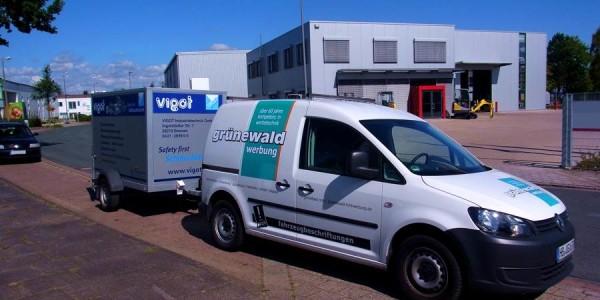 Firmenwagen von Grünewald-Werbung